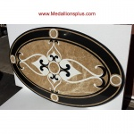 Waterjet Oval Medallion - Design 8